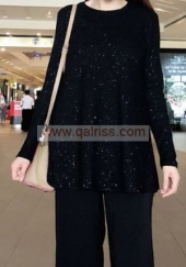 Ironless Glitter Blouse BL