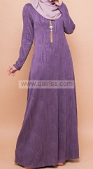 Aesya Glittered Jubah  - Dusty Purple