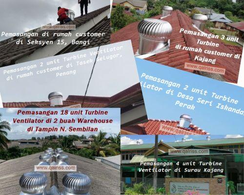 Gambar Pemasangan Turbine Ventilator di rumah customer
